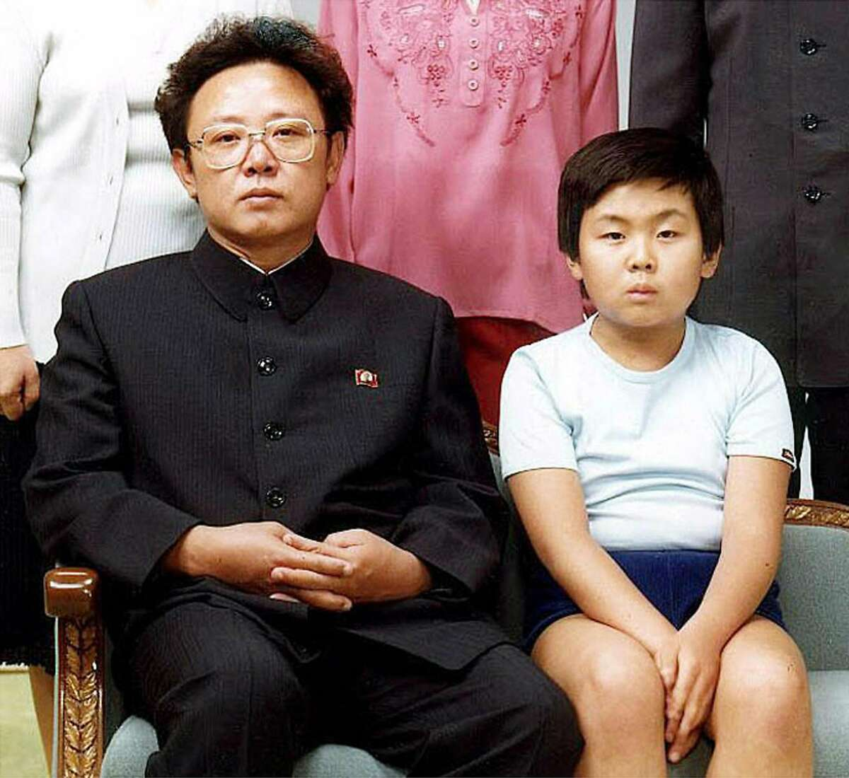 Kim Jong Nam, seen here with his father in a photo believed to have been taken in 1981, is Kim Jong Il's oldest son. His mother was Song Hye-rim, a North Korean actress who was having an affair with Kim Jong Il.