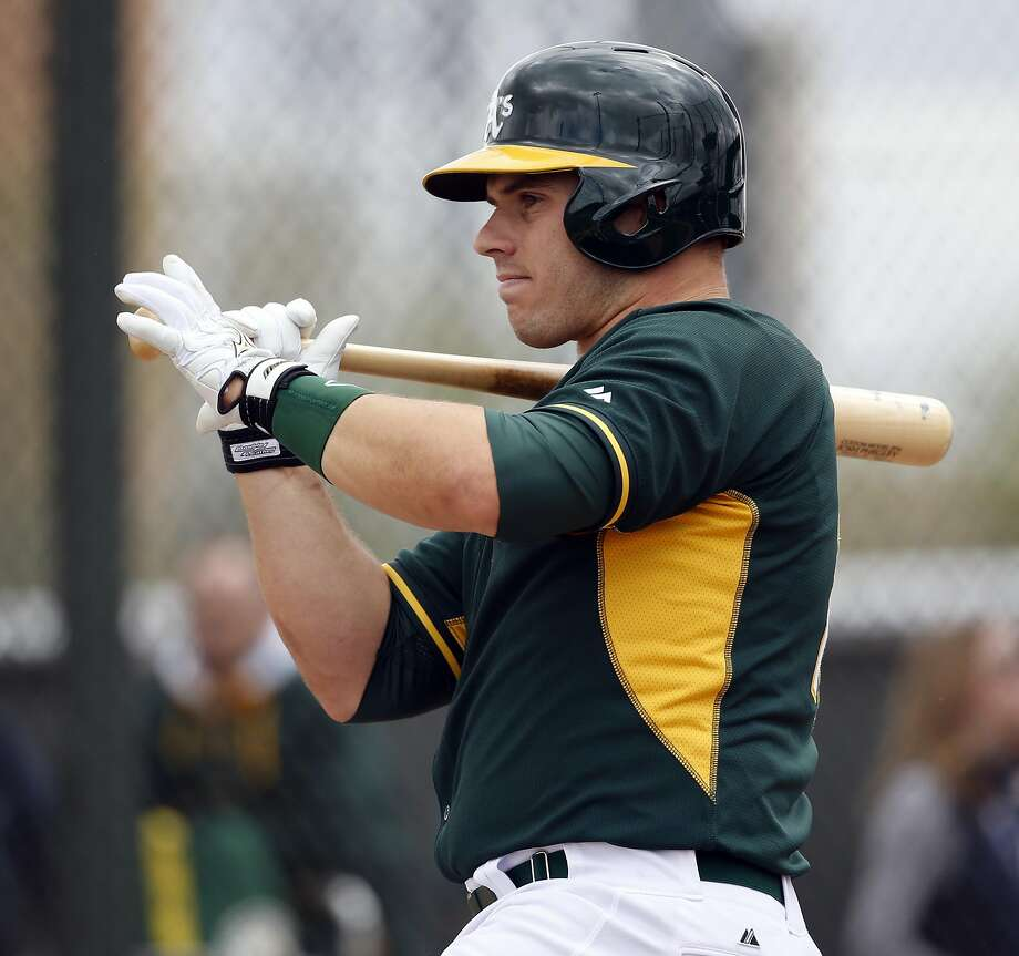 Josh Phegley's knee problem affected his catching and hitting last season. He managed only one home run in 25 games. Photo: Scott Strazzante, The Chronicle