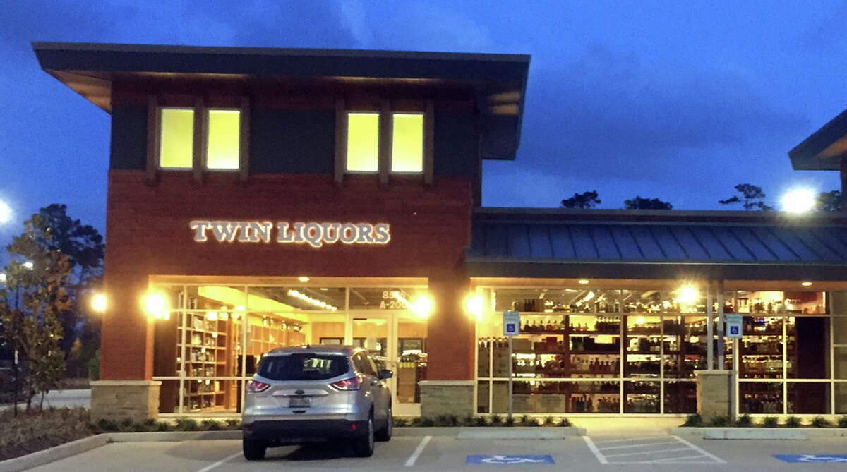 Austin-based Twin Liquors will open stores in Cypress and Sugar Land on July 26. The retailer's Woodlands store, at 5876 Creekside Forest Drive, shown here.