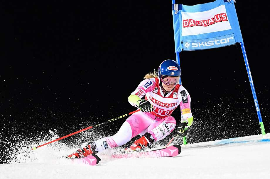 Mikaela Shiffrin, shown competing in Sweden last month, is the favorite to win the slalom and giant slalom at Squaw Valley. Photo: JONATHAN NACKSTRAND, AFP/Getty Images