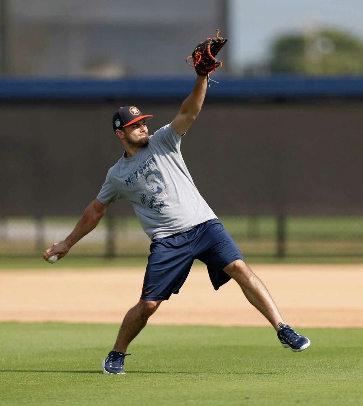 Houston Astros starting pitcher Lance McCullers throws during Astros pitchers and catchers report day at the Astros new spring training facility, The Ballpark of the Palm Beaches, in West Palm Beach, Florida, Tuesday, February 14, 2017. The Astros share the new ballpark with the Washington Nationals.