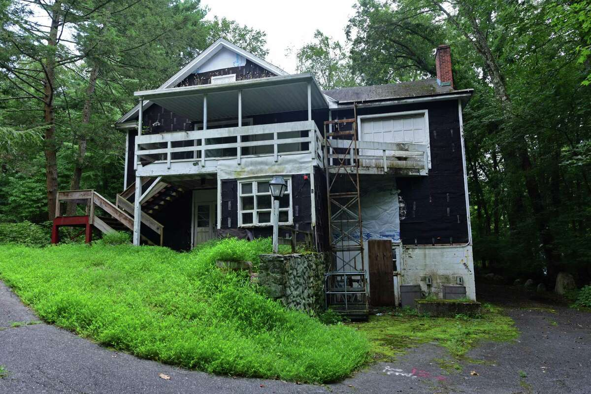 The former White Barn Theatre in Norwalk, Conn. Tuesday, August 16, 2016. A fundraising effort by The Lucille Lortel and Waldo Mayo White Barn Theater Foundation is underway to raise money to buy historic theater property from a developer with an approved housing plan.