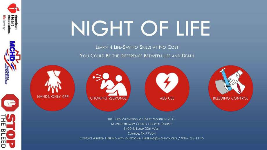 The Montgomery County Hospital District kicks off a monthly Night of Life class on the third Wednesday of each month. The class begins tonight at 6 p.m.