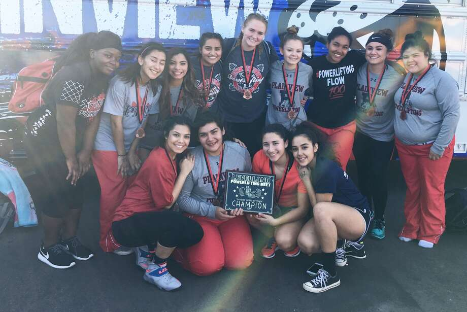 The Plainview girls' powerlifting team won the championship at the Levelland meet. The Lady Bulldogs had two individual champs and scored 41 points. Photo: Courtesy Photo
