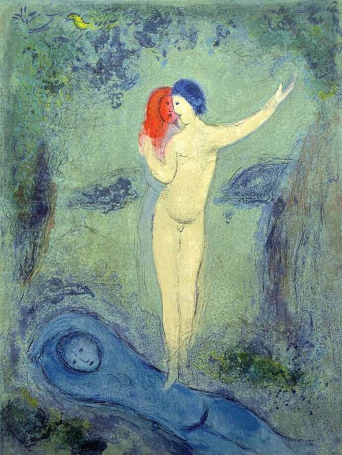 "Stolen art: A $29,500 Marc Chagall lithograph titled ""Chloe's Kiss"" Photo: Contributed Photo / Galerie D'Orsay"