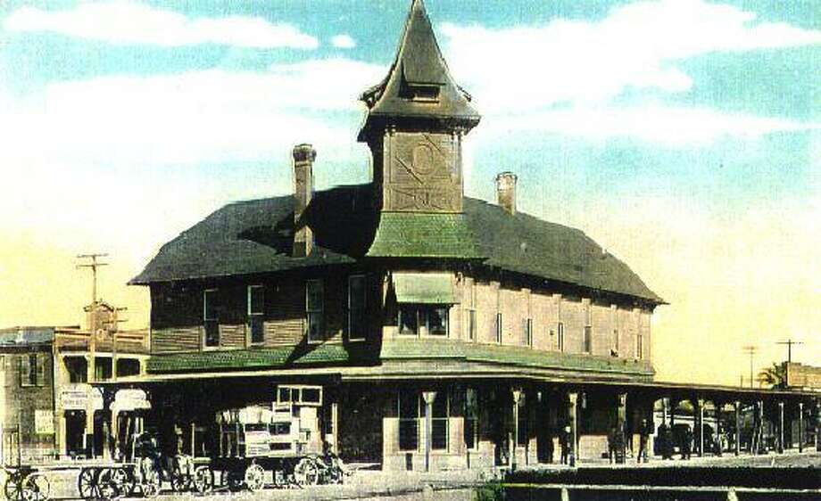 The San Antonio & Aransas Pass railroad depot, built in 1895 and torn down in 1939, is believed to have been a catalyst for what now is the proposed Nathan Historic District, developed primarily in the early 1900s. Photo: /Courtesy Of The Texas Transportation Museum