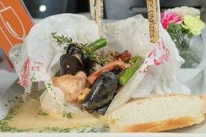 Ropa Sucia, a seafood and sausage papillote, was a menu option at Bite restaurant.