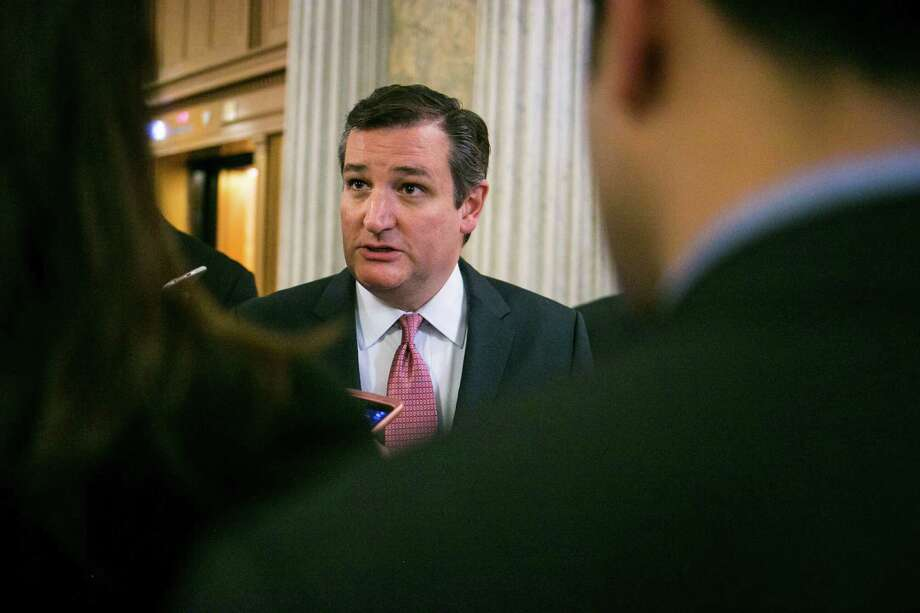 Sen. Ted Cruz (R-Texas) speaks to reporters after a vote to confirm Sen. Jeff Sessions (R-Ala.) as the next U.S. attorney general, on Capitol Hill in Washington, Feb. 8, 2017. Sessions survived a near-party-line vote, 52 to 47, the latest sign of the extreme partisanship at play as President Donald Trump strains to install his cabinet. (Al Drago/The New York Times) Photo: AL DRAGO, STF / NYTNS