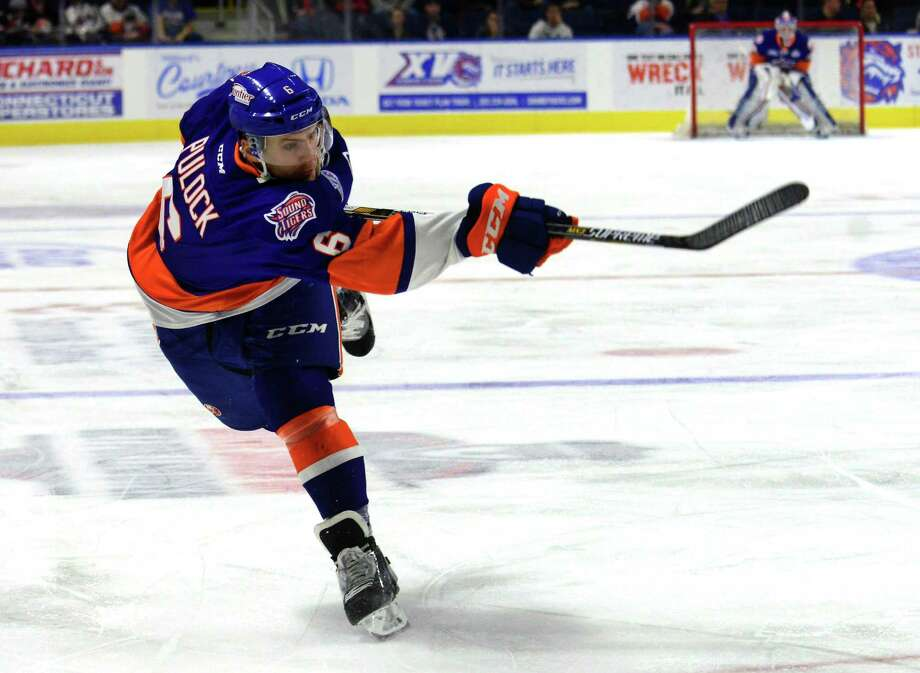Sound Tiger defenseman Ryan Pulock has 14 points in 14 games since he missed two weeks with an upper-body injury. Photo: Christian Abraham / Hearst Connecticut Media / Connecticut Post
