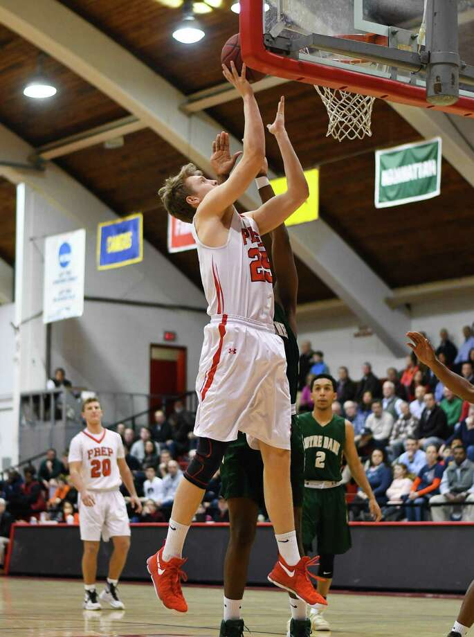 Pat Harding (25) of the Fairfield Prep Jesuits shoots during a game against Notre Dame-West Haven at Fairfield University on February 14, 2016 in Fairfield, Connecticut. Photo: Gregory Vasil / For Hearst Connecticut Media / Connecticut Post Freelance