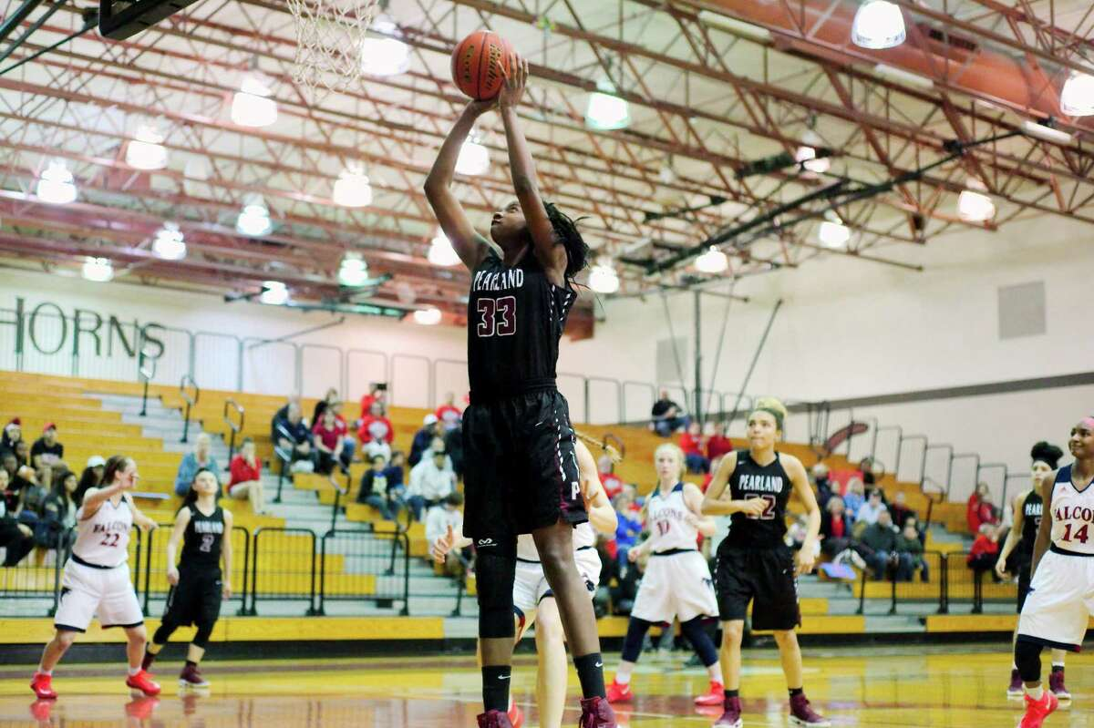 First team  DeYona Gaston, Jr., Pearland The 6-2 forward will be a factor for Pearland this year. She made the Texas Girls Coaches Association first team last season.