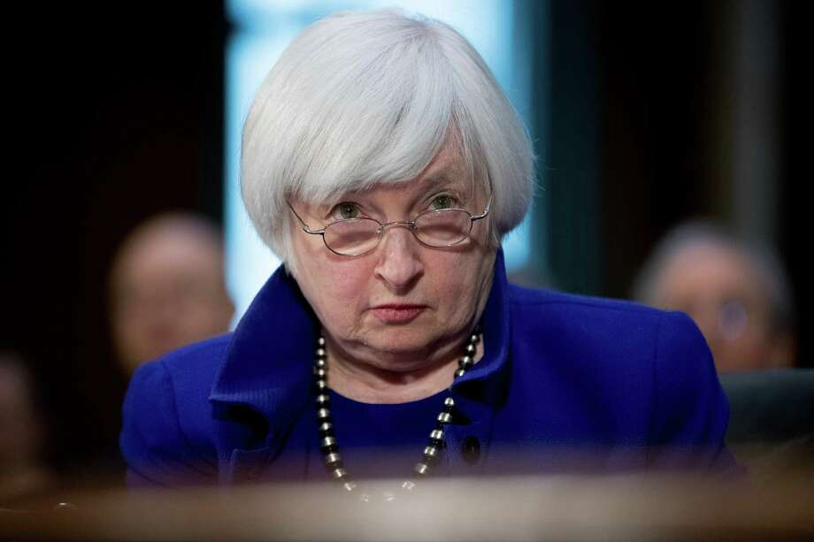 Federal Reserve Chair Janet Yellen went to Capitol Hill on Tuesday to deliver a biannual report on monetary policy to the Senate Banking Committee. Photo: Andrew Harnik, STF / AP