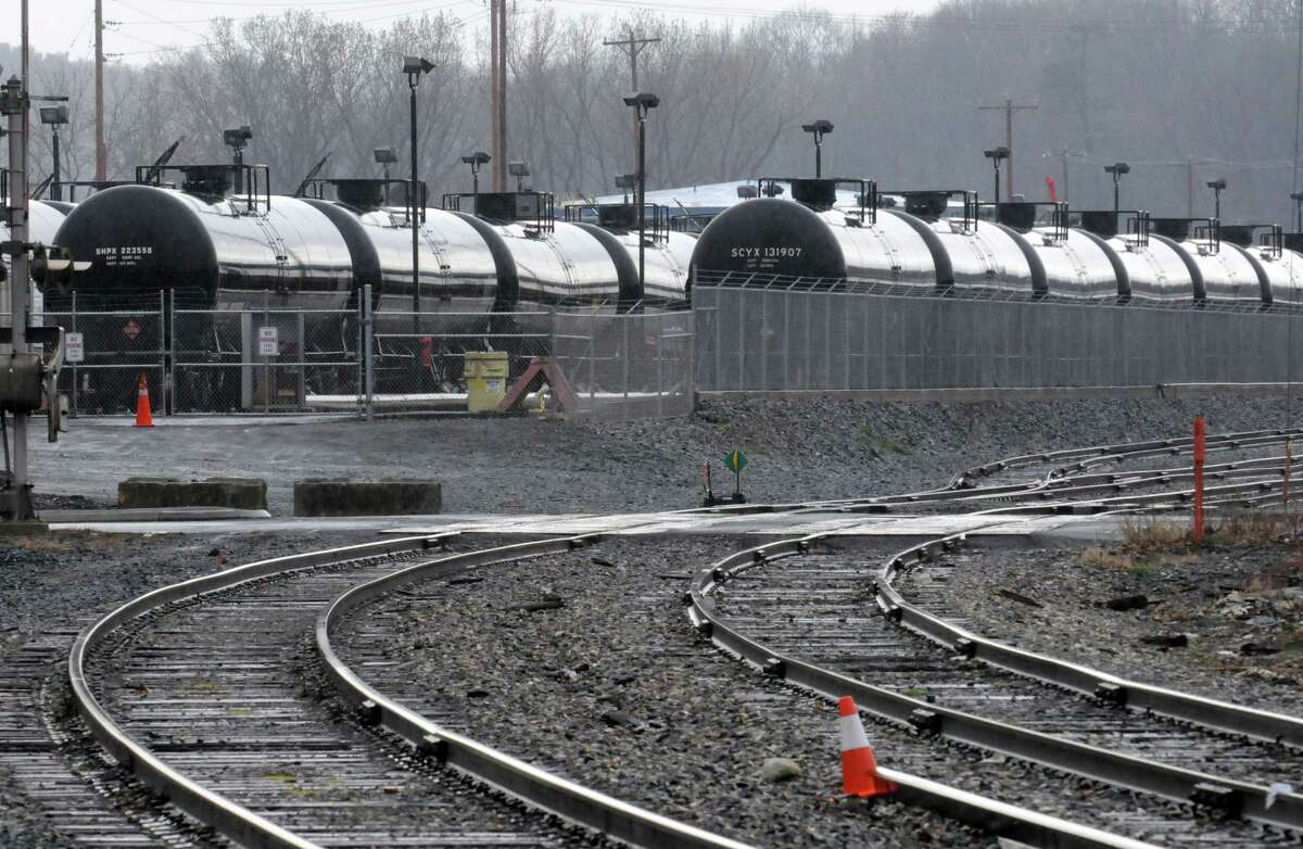 Oil train cars in the Port of Albany on Wednesday April 22, 2015 in Albany, N.Y. (Michael P. Farrell/Times Union)