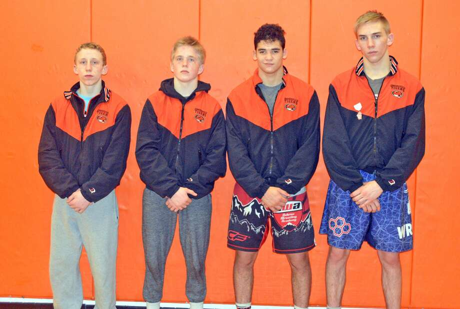 State qualifiers for EHS, from left, are Luke Odom, Noah Surtin, Rafael Roman and Baylor Montgomery.