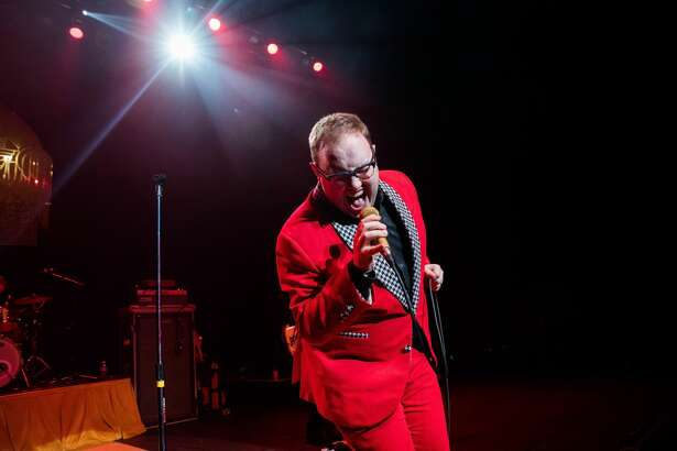DETROIT, MI - NOVEMBER 02: Paul Janeway of St. Paul and The Broken Bones performs at The Fillmore on November 2, 2016 in Detroit, Michigan. (Photo by Scott Legato/Getty Images)