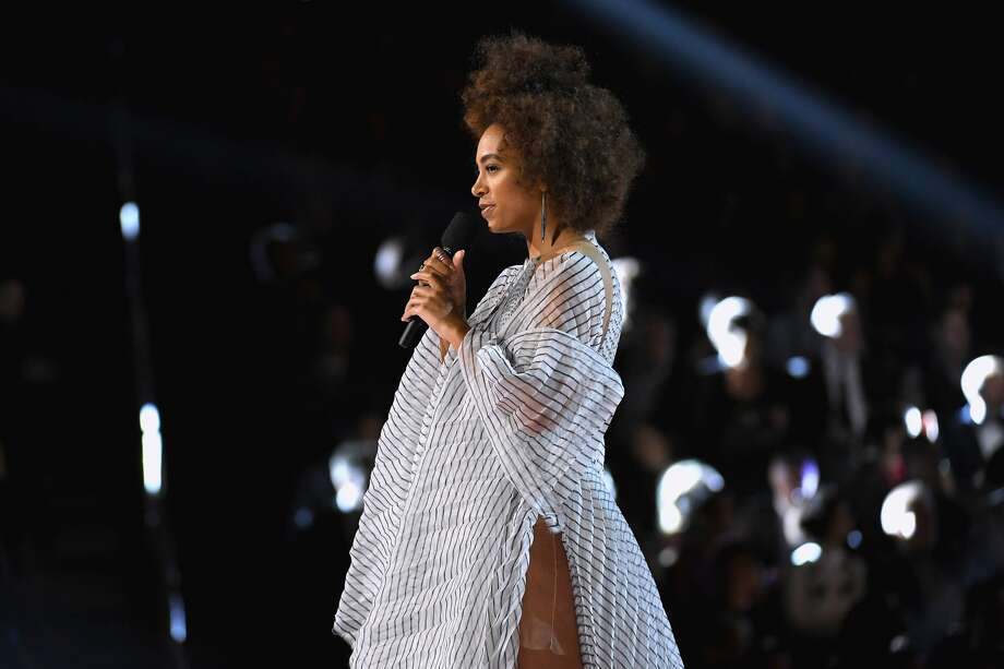 PHOTOS: FPSF releases it's 2017 lineup Solange Knowles speaks onstage during The 59th GRAMMY Awards at STAPLES Center on February 12, 2017 in Los Angeles, California.Click through to see who else is playing FPSF this year... Photo: Kevork Djansezian/Getty Images