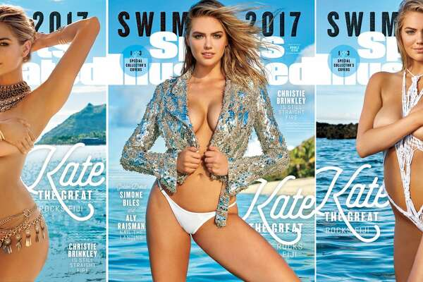 Kate Upton on the cover of the 2017 Sports Illustrated Swimsuit issue.