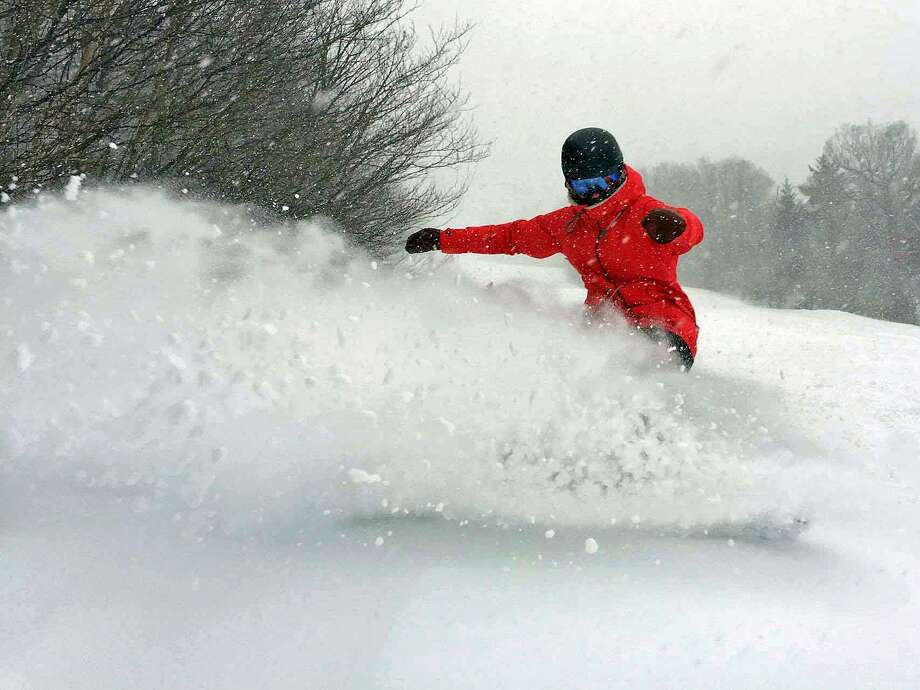 Stratton Mountain in Vermont received 27 inches of snow this week. All 97 trails are now open the first time this season. Photo: Ski Vermont Via Facebook