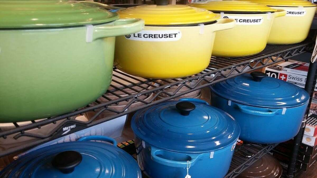 Le Creuset takes its lifetime warranty policy seriously. Pictured: a Le Crueset Dutch over at Cooks Nook in Wilton.