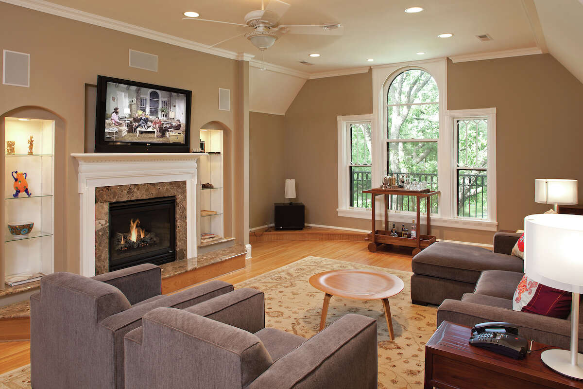 This room in a Minneapolis Victorian home was transformed into the living room of Mary Richards apartment for
