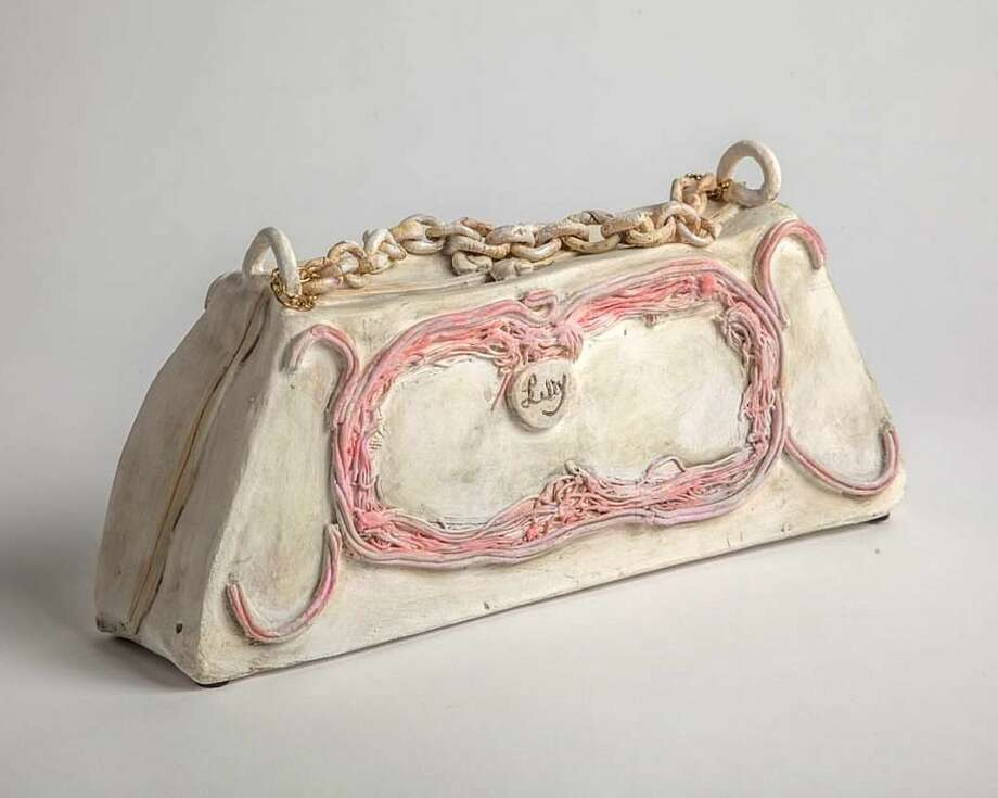 """La Tia Pola"" is among the ceramic sculptures by Lilly Lerner on view at Front Gallery Feb. 11-March 4. Photo: Courtesy Of The Artist"