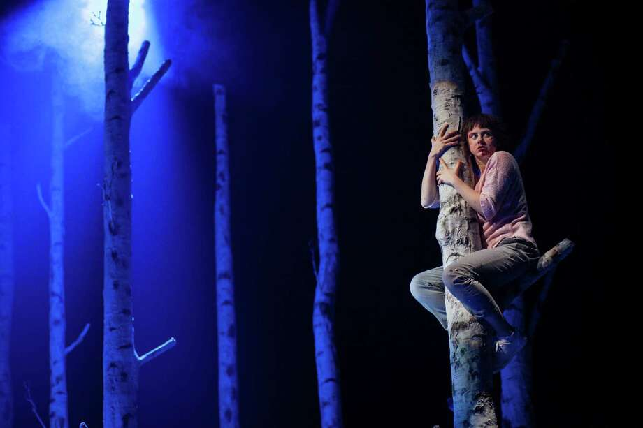 """The Alley Theatre's """"Let the Right One In,"""" starring Lucy Mangan as Eli, induces psychological terror. Photo: Lawrence Peart / Lawrence Peart"""