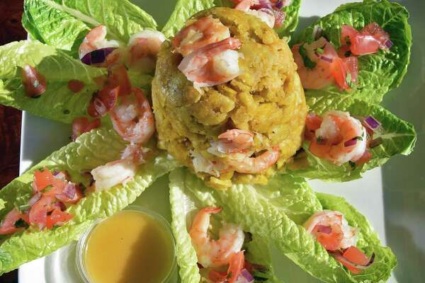 Mofongo de Camarones (shrimp) at the Ecuador Juice Bar & Latin Cuisine restaurant on Columbia Turnpike Tuesday Feb. 14, 2017 in East Greenbush, NY.  (John Carl D'Annibale / Times Union)