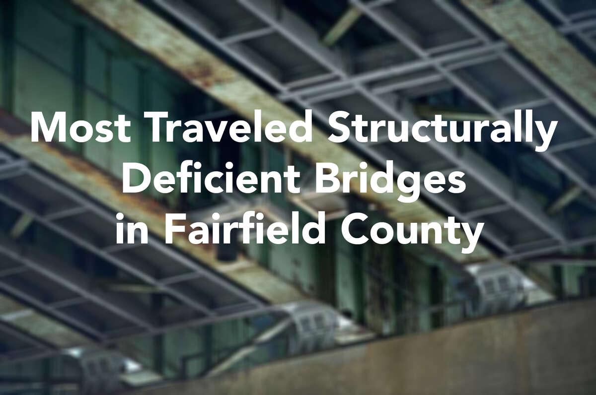 The underbelly of the Yankee Doodle Bridge spanning the Norwalk River in Norwalk, Conn.