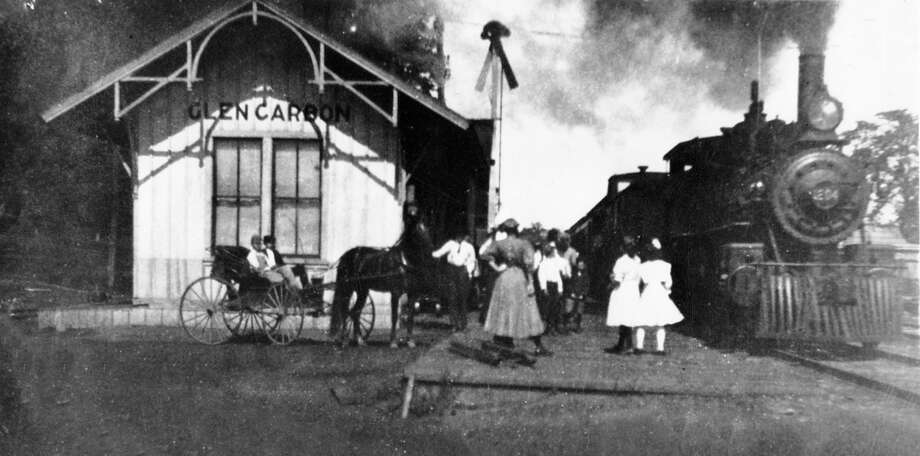 Passenger traffic was heavy at the Illinois Central Deport on Collinsville Avenue in the early 1900s.  It was very common to travel to St. Louis and back in the same day for shopping or entertainment. Photo: Glen Carbon Museum And Historical Commission