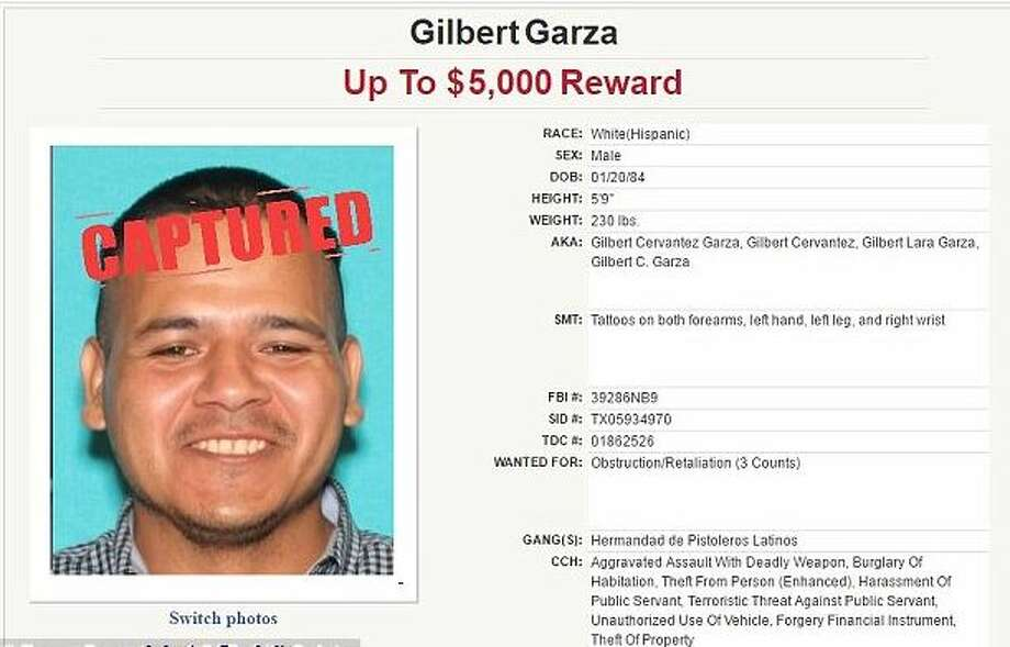 Gilbert Garza, 33, turned himself in Tuesday in Austin.>>Click to see 21 fugitives captured in 2016 who were on the Texas 10 Most Wanted list.