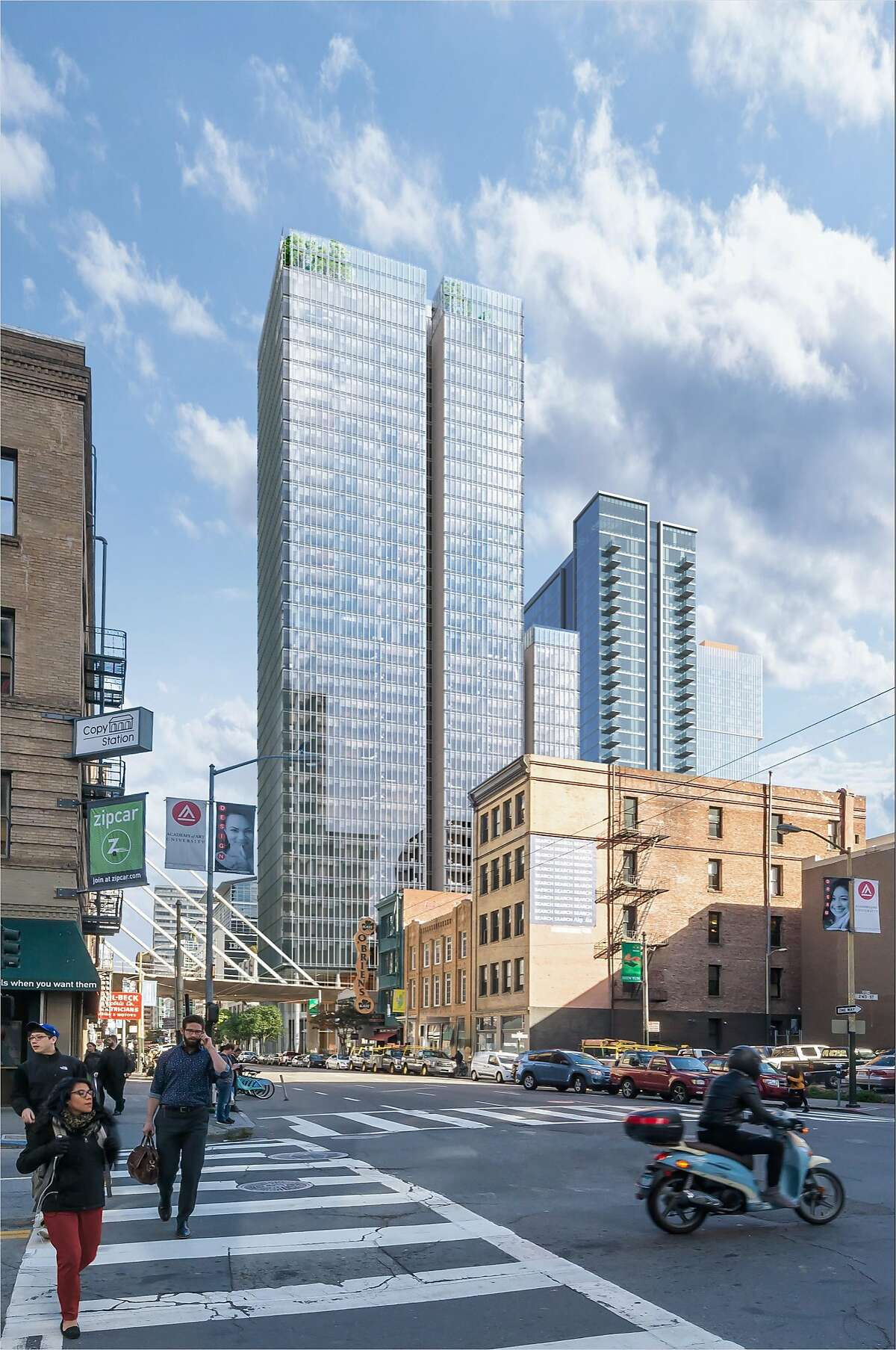 A rendering of the proposed 555 Howard St., designed by�Renzo Piano Building Workshop in collaboration with Mark Cavagnero Associates