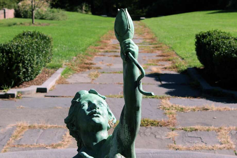 The statue in the gardens of Waveny House on Oct. 11, 2016 in New Canaan, Conn. Photo: Justin Papp / Hearst Connecticut Media / New Canaan News