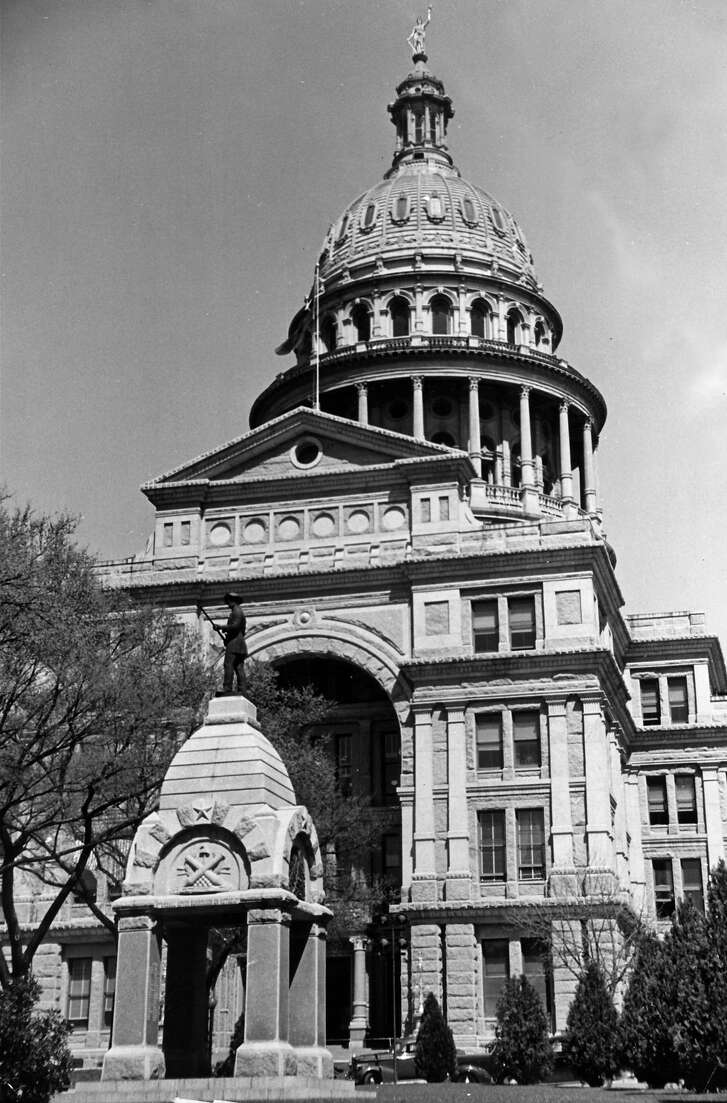 A view showing the exterior of the Capitol Building in Austin.  (Photo by Carl Mydans/The LIFE Picture Collection/Getty Images)