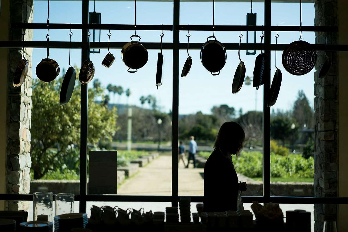 A woman shops at the Copia retail store in Napa, Calif. on Saturday, Feb. 11, 2017. The Copia retail store is featured inside the Culinary Institute of America.