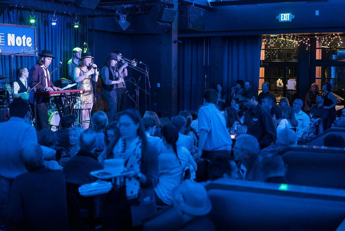 Royal Jelly Jive performs at the Blue Note in Napa, Calif. on Saturday, Feb. 11, 2017. The Blue Note features fine dining and live jazz.