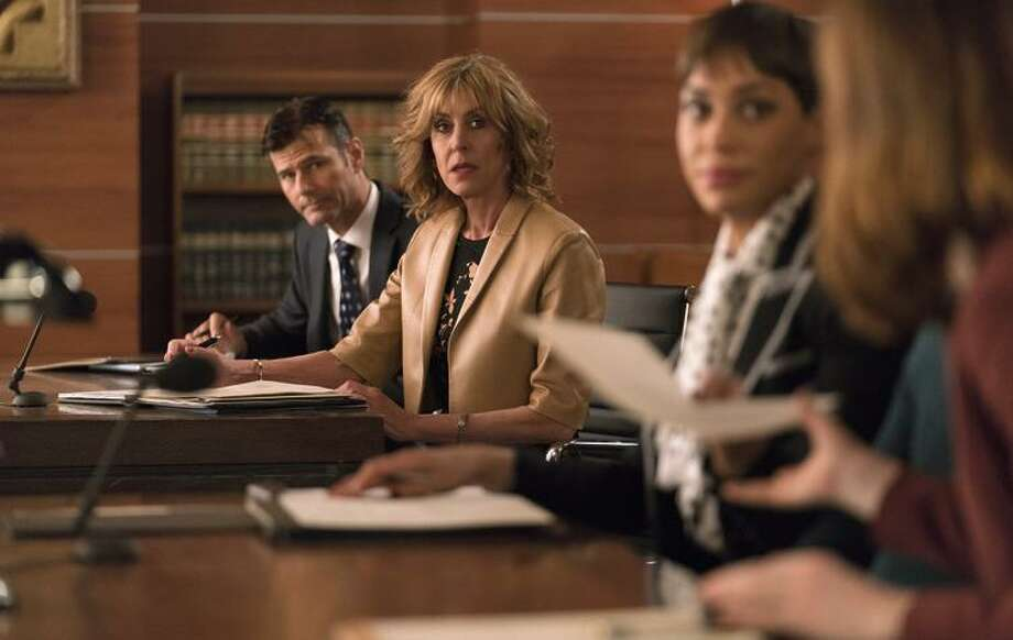 "Christine Lahti as Andrea Stevens in ""The Good Fight"" on CBS, with some of the ""Good Wife"" cast. Photo: Patrick Harbron / Patrick Harbron / CBS / ©2016 CBS Interactive, Inc. All Rights Reserved"