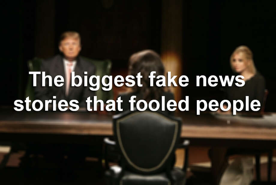 Click ahead to view the biggest fake news stories that circulated around the U.S. Photo: Mathew Imaging/FilmMagic