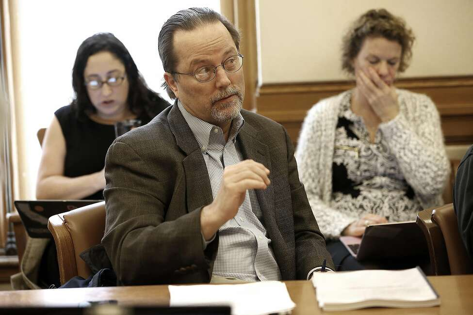 Lawyer Christopher Pl Witteman attends a community group meeting to discuss getting the entire city of San Francisco access to high speed internet at city hall on Tuesday, February 14, 2017, in San Francisco, Calif.