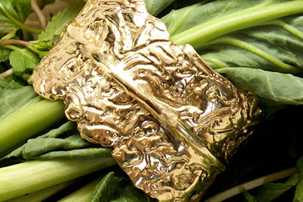 The kale cuff from the Joan Hornig Jewelry collection.