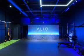 """Alio Fitness Club, at 15909 San Pedro Avenue, doesn't take """"club"""" lightly. Founders Samuel Noyola and Daniel Rubalcaba have designed their upcoming business with a high-end appeal and an atmosphere which mimics a nightclub."""