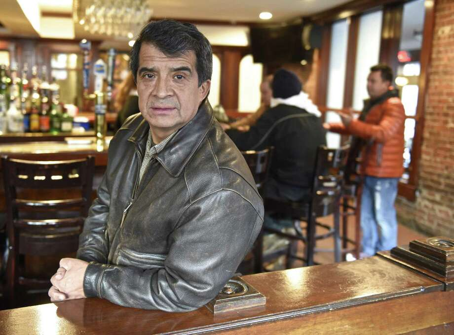Wilson Hernandez, owner of La Mitad del Mundo Restaurant in Danbury, is closing his restaurant on Thursday, February 16, as part of the planned nation wide strike by Latino immigrant workers to demonstrate what the United States would look like without them. Wednesday, February 15, 2017, in Danbury, Conn. Photo: H John Voorhees III / Hearst Connecticut Media / The News-Times