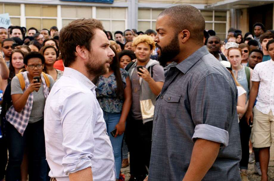 "Fight! Fight! Charlie Day and Ice Cube square off in ""Fist Fight."" Photo: Warner Bros. Pictures / © 2016 Warner Bros. Entertainment Inc. and Ratpac-Dune Entertainment LLC."