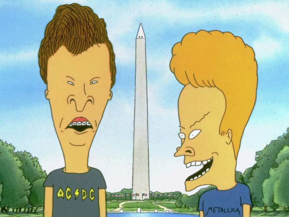 """FILE - In this undated file photo originally released by MTV Films, the animated MTV iconic characters Beavis and Butt-head visit the Washington Monument in a scene from the movie, """"Beavis and Butt-head Do America.""""  Creator Mike Judge came to San Diego's Comic-Con on Thursday, July 21, 2011, to talk about the reboot of his beloved animated characters and offer a peek at the new season, which is set to premiere in October. (AP Photo/MTV Films) Photo: Anonymous / AP2006"""