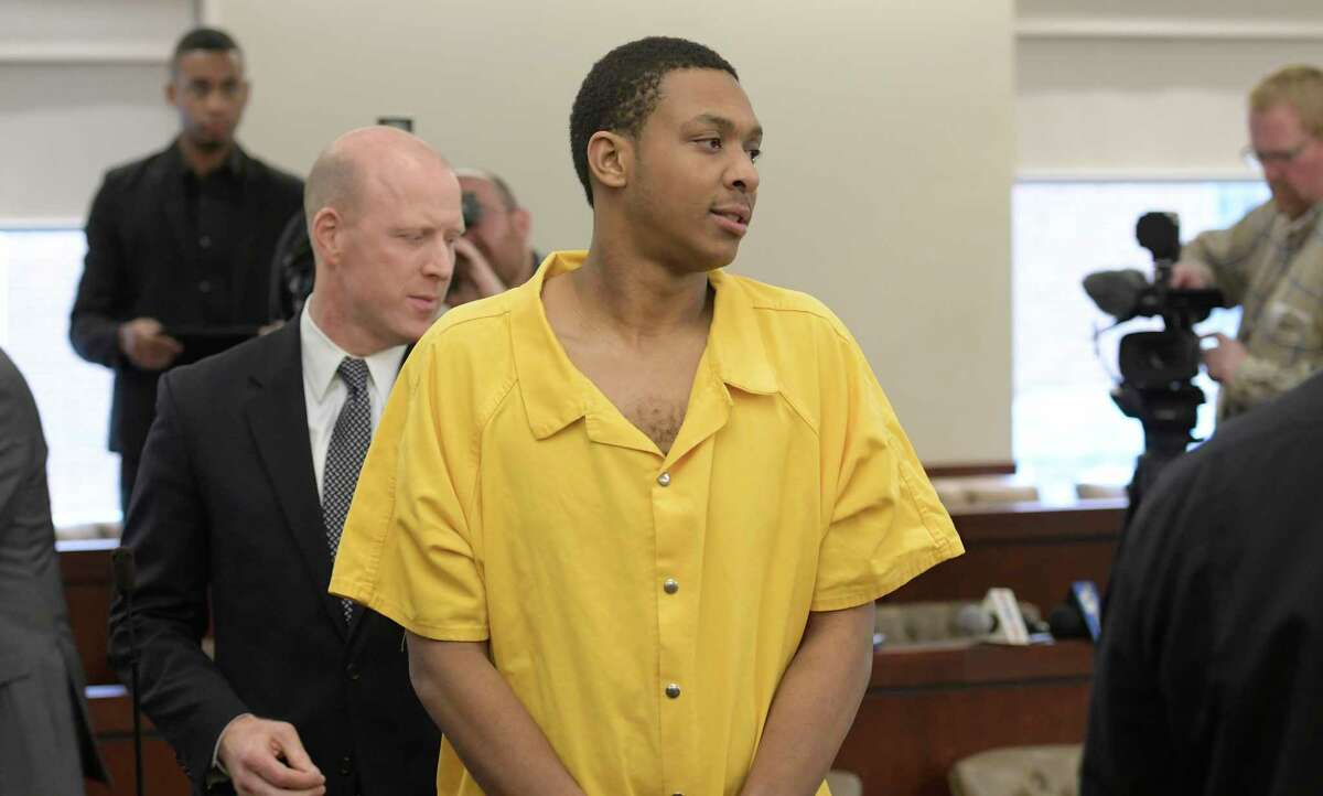 Tasheem Maeweather, leaves the court Monday Dec. 5, 2016 after his arraignment in Albany County Court in Albany, N.Y. on charges involved with the alleged shooting at Crossgates Mall in November in Albany, N.Y. (Skip Dickstein/Times Union archive)