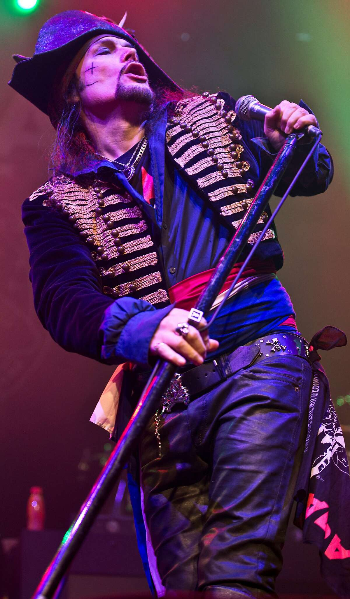 British rocker Adam Ant, shown Dec. 1, 2016 at a concert in the Roundhouse in London
