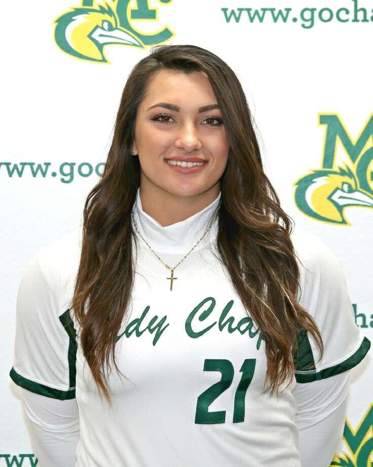 Midland College softball's Crystine Kistner