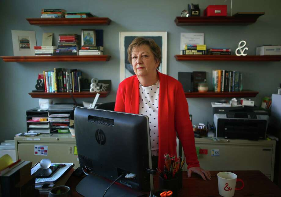 Alice Brink, standing in her home office, is one of a quarter million Texans who could be affected if the ACA is repealed, Tuesday, Feb. 14, 2017, in Houston. ( Mark Mulligan / Houston Chronicle ) Photo: Mark Mulligan, Staff / © 2017 Houston Chronicle