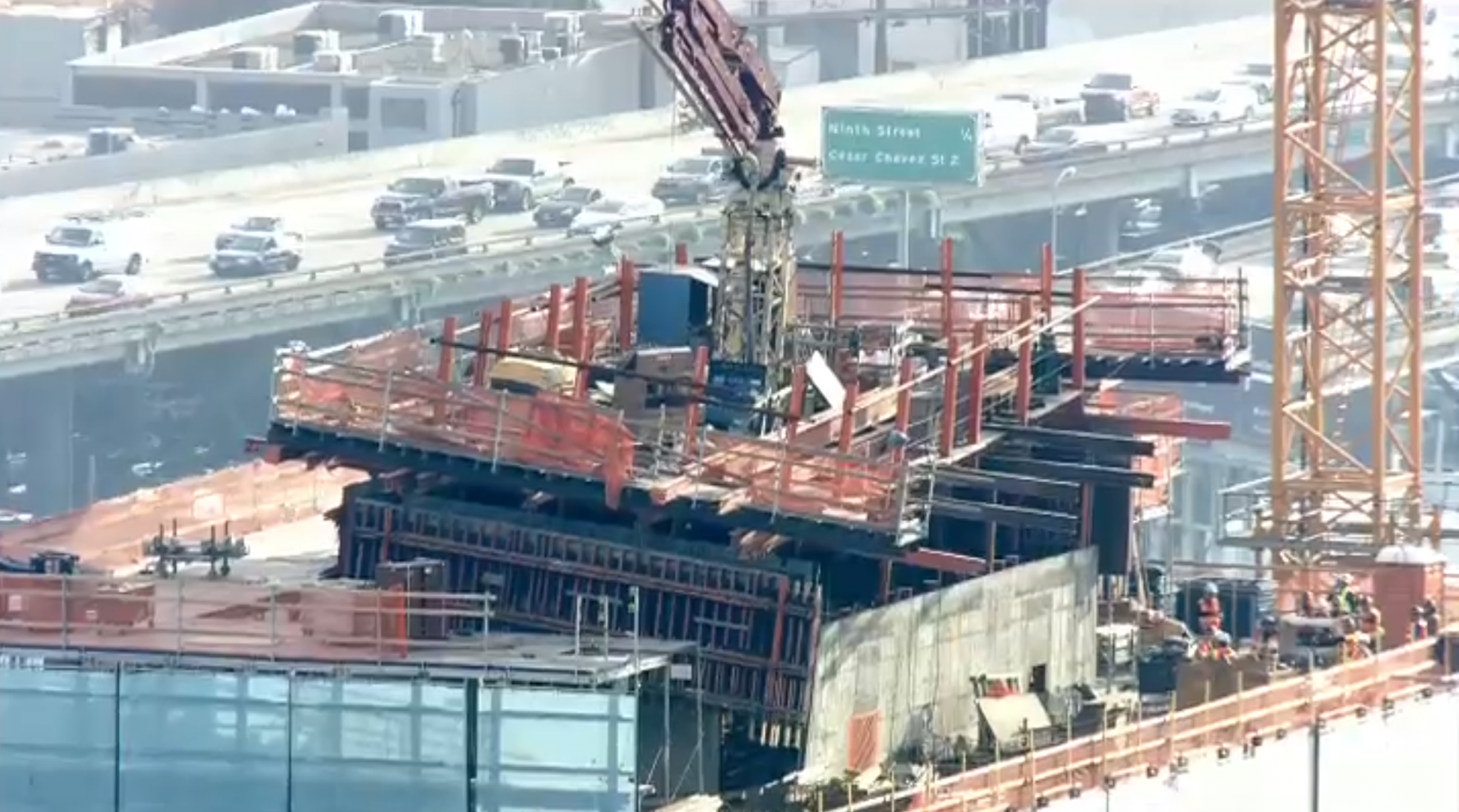 Concrete Wall Threatening To Fall From Sf High Rise