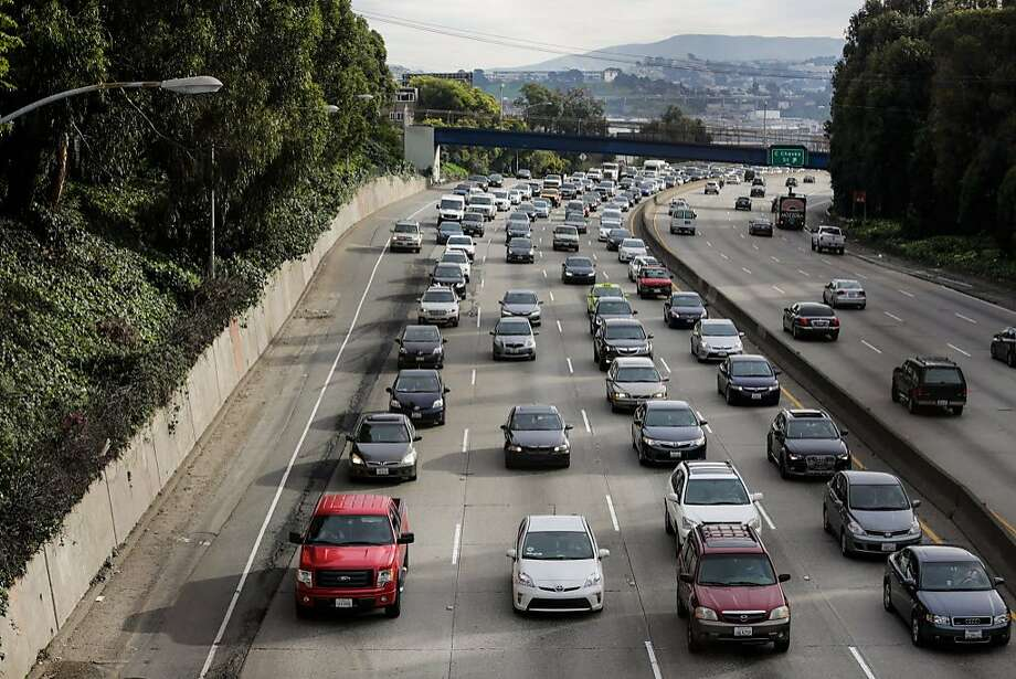 Traffic on Highway 101 in San Francisco. Photo: Gabrielle Lurie / The Chronicle