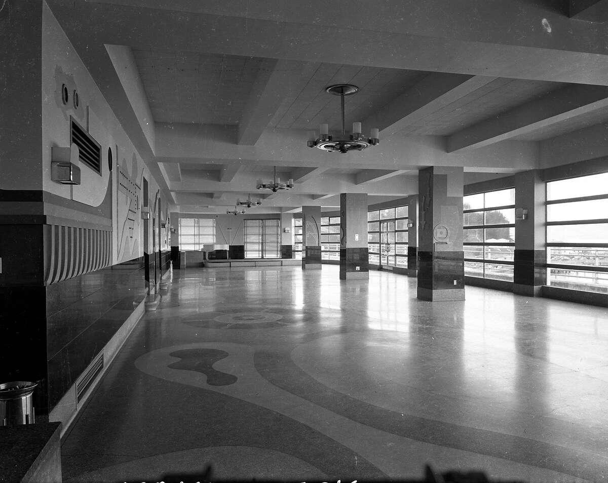 Aquatic Park building interior August 22, 1938 ..